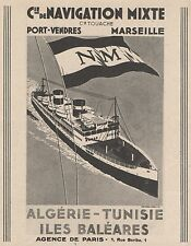 Z8453 Compagnie de Navigation Mixte - Pubblicità d'epoca - 1935 Old advertising