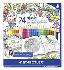 STAEDTLER 24 Ergo Soft-Triangolari Colorate MATITE-Johanna BASFORD Edition