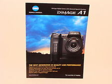MINOLTA DIMAGE A1 SALES BROCHURE