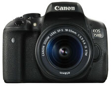 CANON EOS 750D DIGITAL SLR CAMERA 24MP (EF-S 18-55mm IS STM LENS CMOS SENSOR)