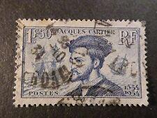 FRANCE - 1934, timbre 297, JACQUES CARTIER, oblitéré, VF STAMP CANCELLED