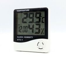 Digital LCD Indoor/ Outdoor Thermometer Hygrometer Temperature Humidity Clock UK