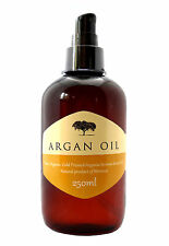 100% Pure Cold Pressed Organic Moroccan Argan Oil Skin Body Hair Nails, 250ml