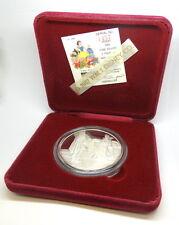 Rare HUNTER&QUEEN DISNEY Snow White 50th Anniversary .999 Fine 5oz Silver Medal