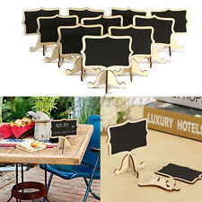 10x Mini Blackboard Chalkboard Wooden Message Labels Wedding Party Table Stand