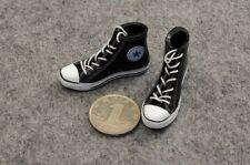 """Straps Black Canvas Dress Man Shoes 1:6 Scale ZY Toys Fit 12"""" Figure Male Model"""