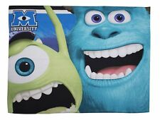 Disney Pixar Monsters Inc University Sulley & Mike  Panel Fleece Blanket - NEW
