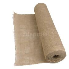 10M Hessian Burlap Table Runner Jute Rustic Shabby Chic Wedding Party Decor