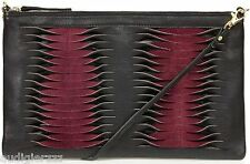 P2,695 TOPSHOP Black & Red Twisted Leather Clutch Bag