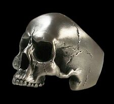 Sterling Silver Anatomical Keith Richards Skull Ring 40 Gr Brush Finish All Size