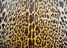 LEE JOFA KRAVET EXOTIC LEOPARDO LEOPARD SILK VELVET FABRIC 5 YARDS GOLD BROWN