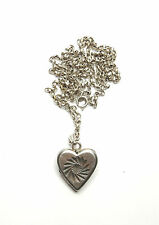 Vintage 925 Silver LOVE HEART PHOTO PICTURE LOCKET & NECKLACE CHAIN 10.3g 25""