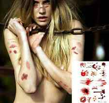 Halloween Zombie Scar Tattoo Fake Scab Bloody Injury Sticker Costume Makeup