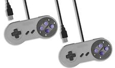 2 x PC USB SNES Classic Style Retro Control Joy Pad Controller UK Seller