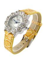 Wristwatch °° Damenuhr Sole  mit Kunstlederarmband und Strassbesatz JB031216