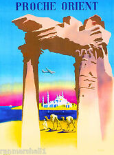 Proche Orient Middle East Vintage Travel Advertisement Art  Poster