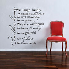 In This House Rules II Wall Sticker Quotes Decals Vinyl Decor Family Room Art