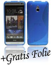HTC One Mini ( M4 ) Custodia Custodia Cellulare + Pellicola protettiva Blu