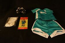 American Girl Doll 2 in 1 Soccer Set Outfit NIP Shoes Cleats Jersey Partial Set