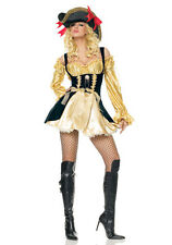 Leg Avenue 83321 Gold Marauder Wench Pirate Hallloween Costumes Size L Gold