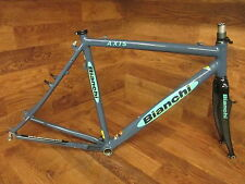 BIANCHI AXIS CANTILEVER CYCLOCROSS EASTON ULTRALITE FRAME SET CARBON FORK 55CM