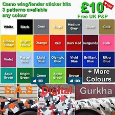 Camo Wing/Fender Sticker Kit dub JDM drift race modified car wrap sticker bomb