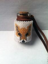 Native American Beaded Fox Medicine Bottle