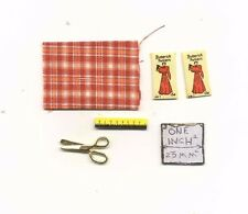 Sewing Set -  dollhouse miniature metal IM65281P 1/12 scale fabric scissors