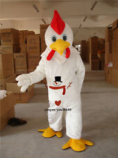 Hotsale White Chicken Rooster Mascot Costume Christmas Fancy Dress Adult Adults