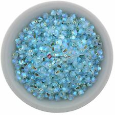 Swarovski Crystal 5328 XILION Bicones 3mm - LIGHT AZORE AB2X (24 PCS)