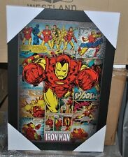 Iron Man Comic Collectible Framed Wall Decor Marvel Pyramid America
