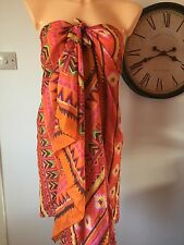Minkpink multi use scarf dress beachwear kaftan skirt printed one size (F631)