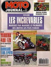MOTO JOURNAL 1027 SUZUKI GSX-R 400 YAMAHA FZR KAWASAKI ZXR ZEPHYR HONDA NX 650