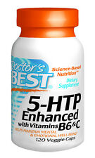Doctor's Best 5-HTP Enhanced with Vitamins B6 and C - 120 Veggie Capsules