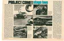 1971 MERCURY COMET 302/210-HP / STAGE 2  ~  NICE ORIGINAL 4-PAGE ARTICLE / AD