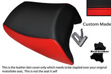 BRIGHT RED & BLACK CUSTOM FITS SUZUKI BANDIT GSF 650 05-11 REAR SEAT COVER