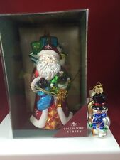 Hand Paint Glass Ornament Santa Collectors Series