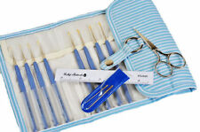 Gift Steel Crochet hooks Set Tulip Etimo Lavander Cushion Grip Needles Scissors