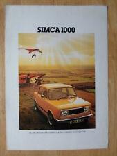 SIMCA 1000 1977-78 UK Mkt Sales Brochure - LS GLS