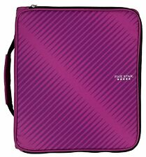 "Five Star 2"" Zipper Binder, 6 Pocket File Berry Pink/Purple 72540 BINDERS NEW"