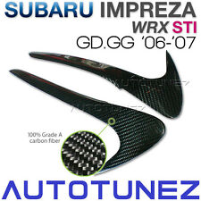 Carbon Fiber Car Eyelid Eyebrow Subie Car For Subaru WRX STI 06 07 GD GG GDB TU