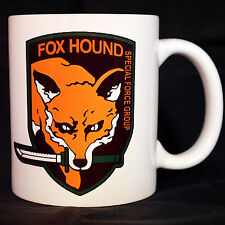 METAL GEAR SOLID - Coffee MUG CUP - FOX HOUND LOGO - MGS V 5 - Snake