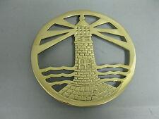 Messing  Untersetzer Topfuntersetzer   Stil  18 cm Stövchen Leuchtturm nautisch