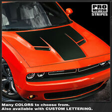 Dodge Challenger 2015 Hood Blackout T-Stripe Decal Graphic Pro Motor