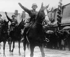 "German Nazi SS Soldiers on Horseback 8""x 10"" World War II Photo 1p"