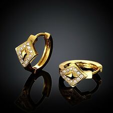 18K Yellow Gold Plated Earring & Zircon Rhinestone Women Jewelry *UK Seller*