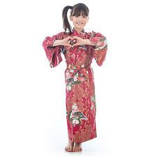 Age 8 to 9 Red Cotton Japanese Girls Kimono