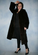 5922 REAL BLACKGLAMA MINK FUR COAT FUR MINK JACKET BEAUTIFUL LOOK НОРКОВАЯ ШУБА