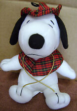"""PEANUTS SNOOPY STUFFED ANIMAL PLUSH TOY 6"""" SHERLOCK HOLMES RUSSELL STOVER"""