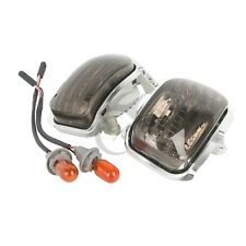 Smoke A Pair Front Side Turn Signal Lights For Honda Goldwing GL1800 2001-2014